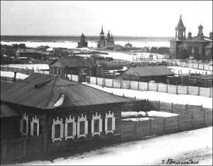 Вид на Иннокентьевскую кладбищенскую церковь